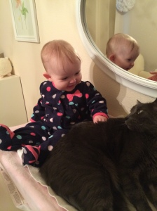 She loves her kitties. :)