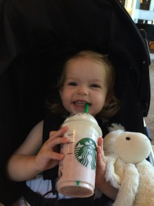 Her very first Starbucks!